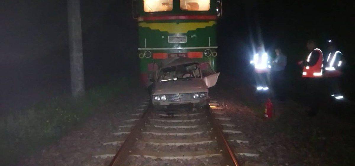 Под Бобруйском пьяный белорус катался на «Жигулях» по железнодорожным путям (фото)