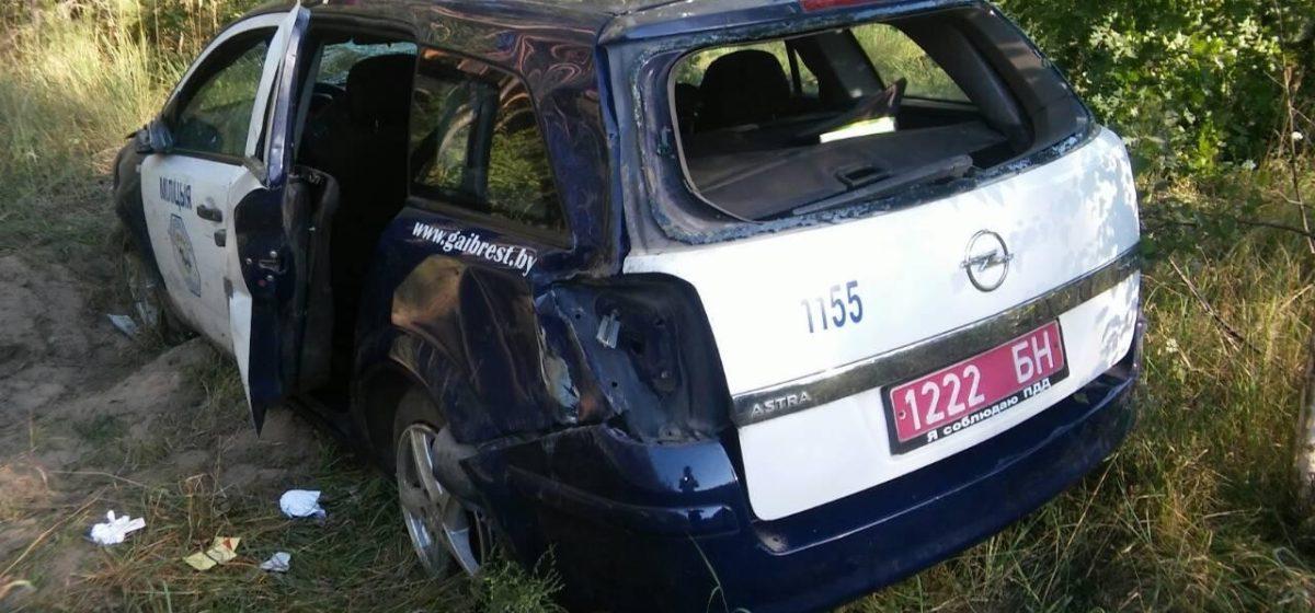 В ГАИ рассказали, как в Бресте во время погони их машина оказалась в кювете