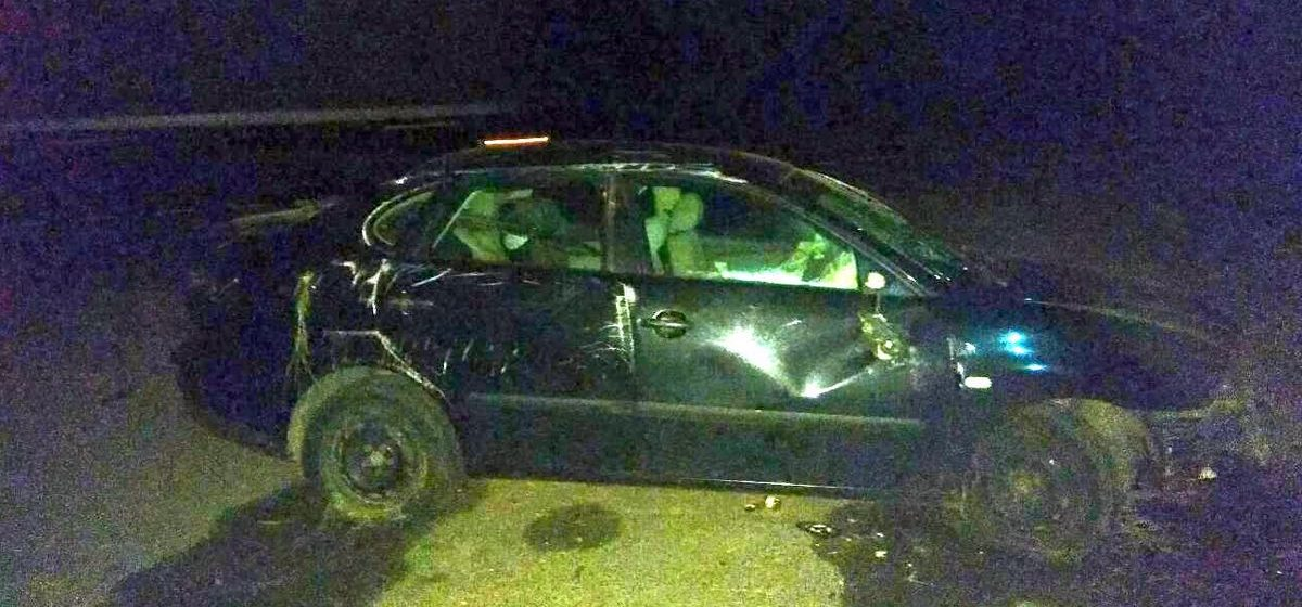 Под Барановичами перевернулась машина. В салоне находилась двухлетняя девочка