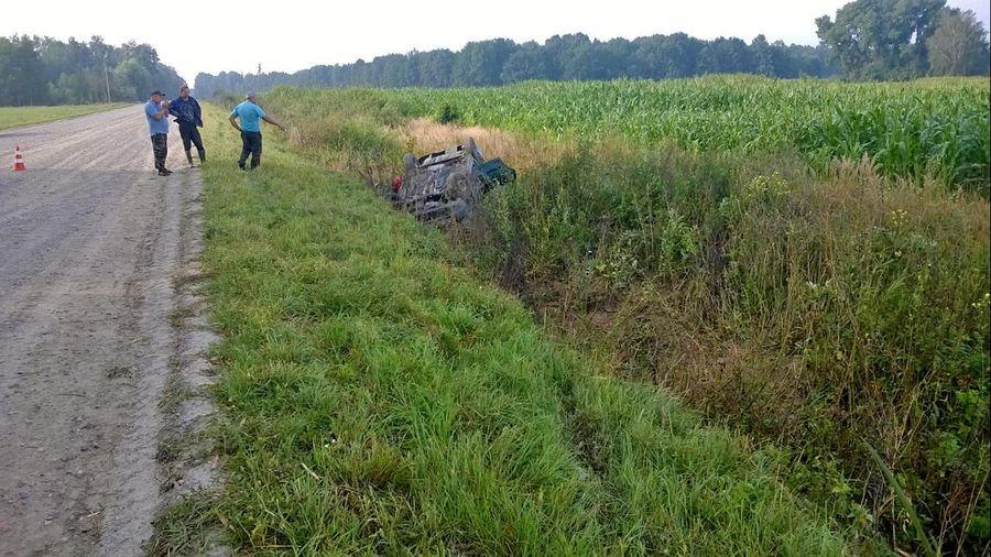 В Речицком районе легковушка вылетела в кювет — водитель выпал из салона и погиб