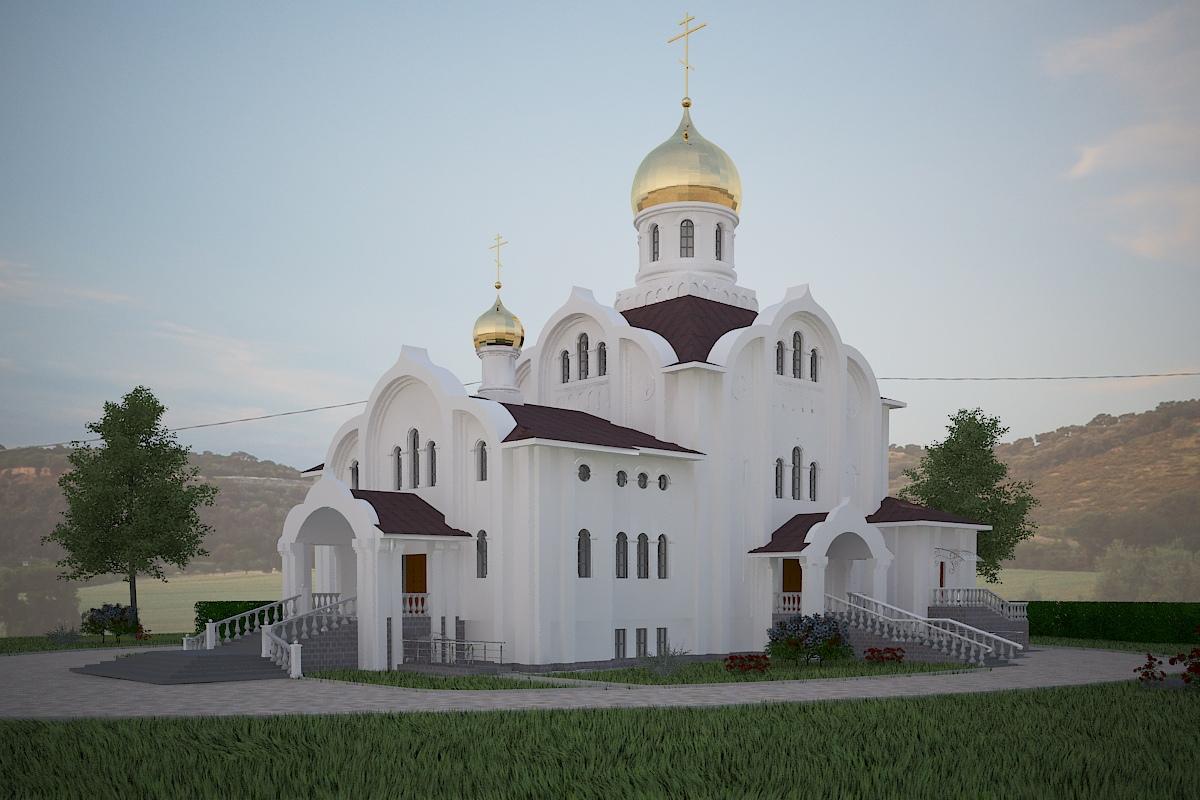 Эскиз храма Святой блаженной Валентины Минской.