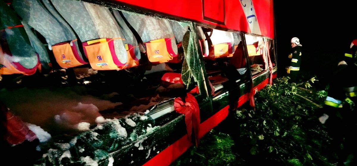 В Польше со склона упал украинский автобус. Погибли три человека, 51 получил травмы