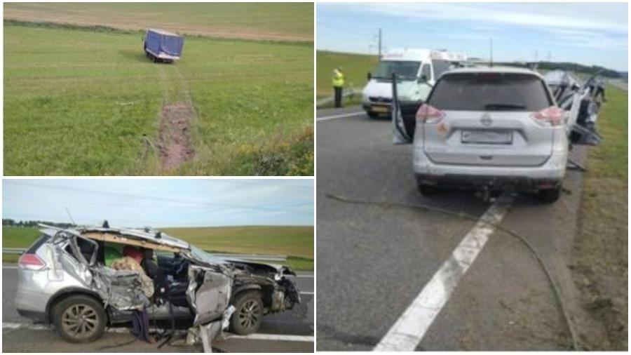 В Столбцовском районе легковушка столкнулась с МАЗ, погиб один человек, есть пострадавшие