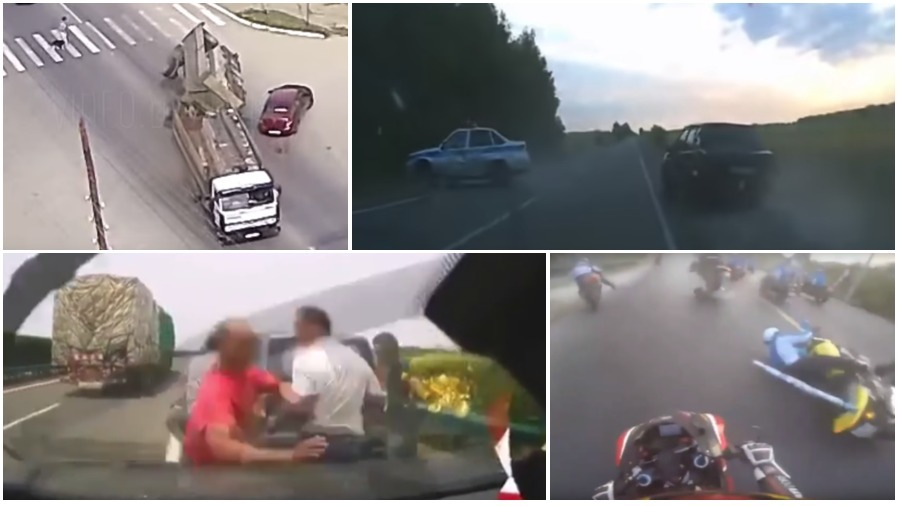 ТОП-5 ужасных аварий за неделю: смертельный обгон, неудачная погоня, грузовик и дама с собачкой (видео 18+)