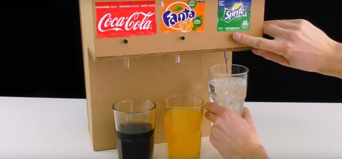 Лайфхак с миллионными просмотрами: как сделать автомат с холодной газировкой для дома (видео)