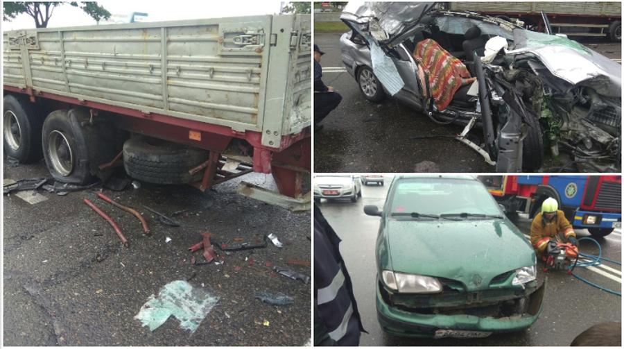 В Жодино пьяный 26-летний водитель врезался в грузовик, погибла 18-летняя девушка (фото)
