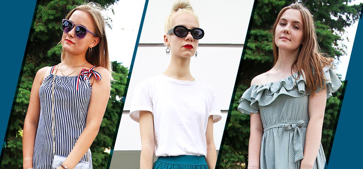 Модные Барановичи: Как одеваются школьница и студентки