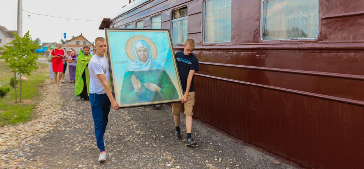 В Барановичи привезли мощи Матроны Московской