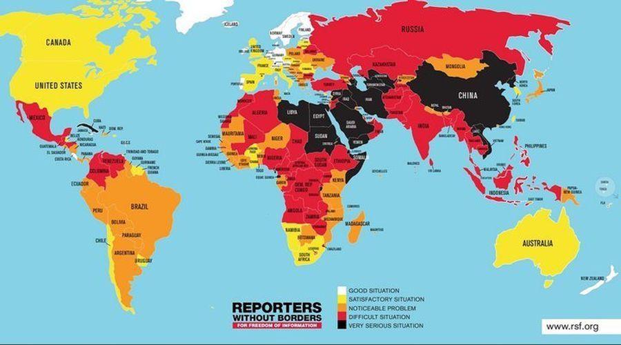 Беларусь в индексе свободы прессы занимает 155-е место из 180-ти