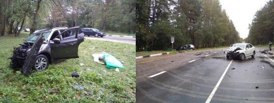 Под Вилейкой столкнулись Nissan и Skoda: один человек погиб, двое пострадали