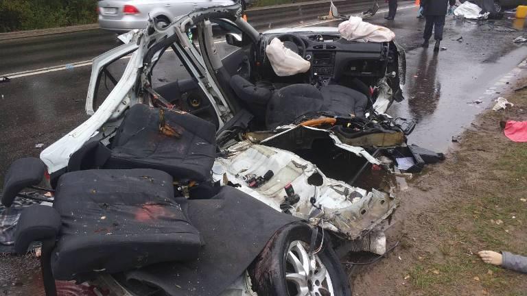 Появилось видео аварии под Солигорском, в которой погибли три человека