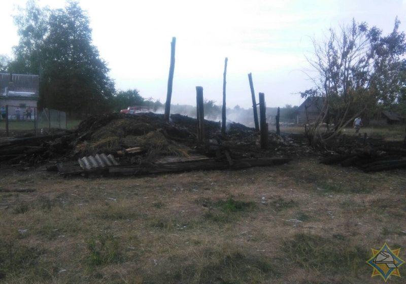 В Ганцевичском районе на пожаре погиб трехлетний малыш
