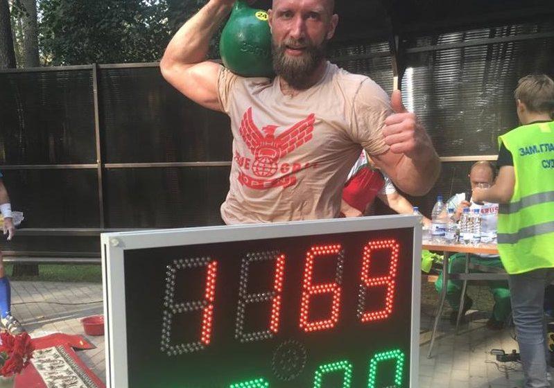Барановичский спортсмен выиграл чемпионат мира по гиревому марафону