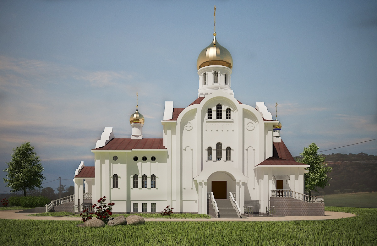 Эскиз храма Святой блаженной Валентины Минской