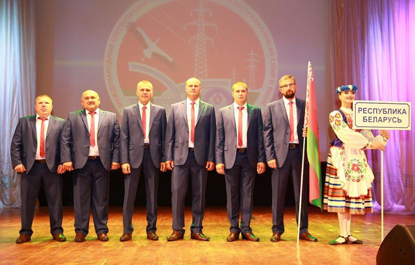 Барановичские энергетики стали лучшими на международных соревнованиях. Видео снятия «пострадавшего» с опоры 110 кВ