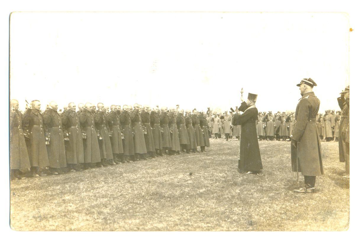 Православные солдаты Войска Польского принимают присягу. Конец 1930-х годов, Барановичи