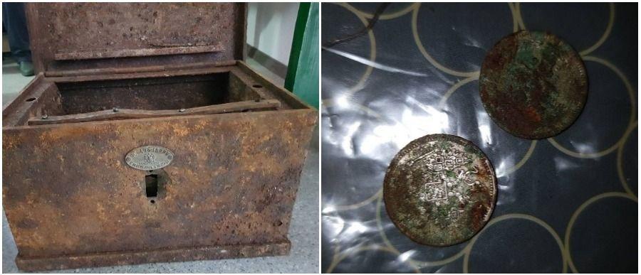 В Ивацевичском районе при реконструкции Коссовского дворца строители нашли старинный сундук с монетами и книгой