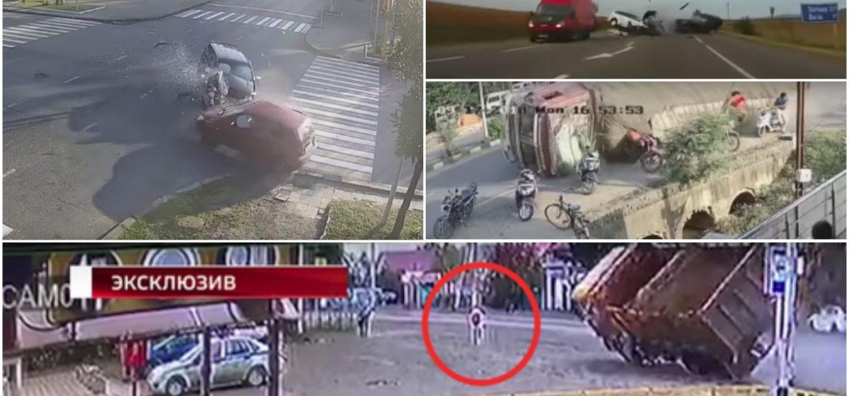 ТОП-5 ужасных аварий за неделю: огромный грузовик без тормозов, лобовое на встречке, не проскочил перекресток (видео 18+)