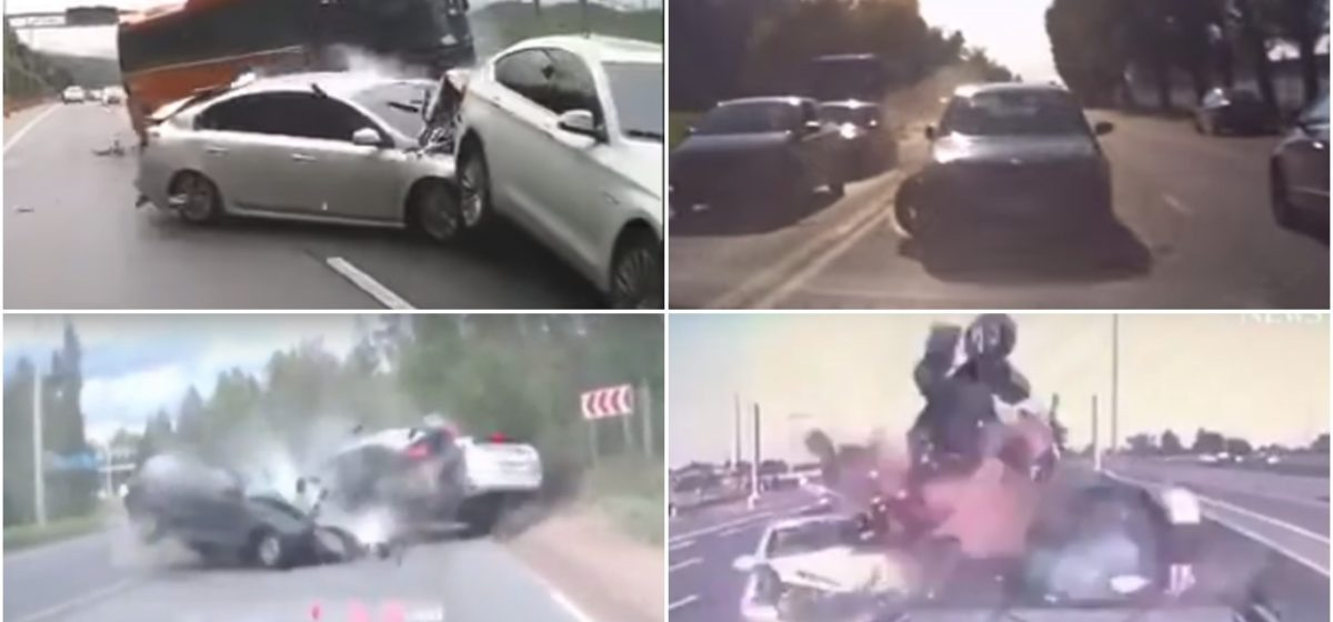 ТОП-5 ужасных аварий за неделю: лобовое в Минске, автобус-убийца, лихач вылетел на тротуар (видео 18+)