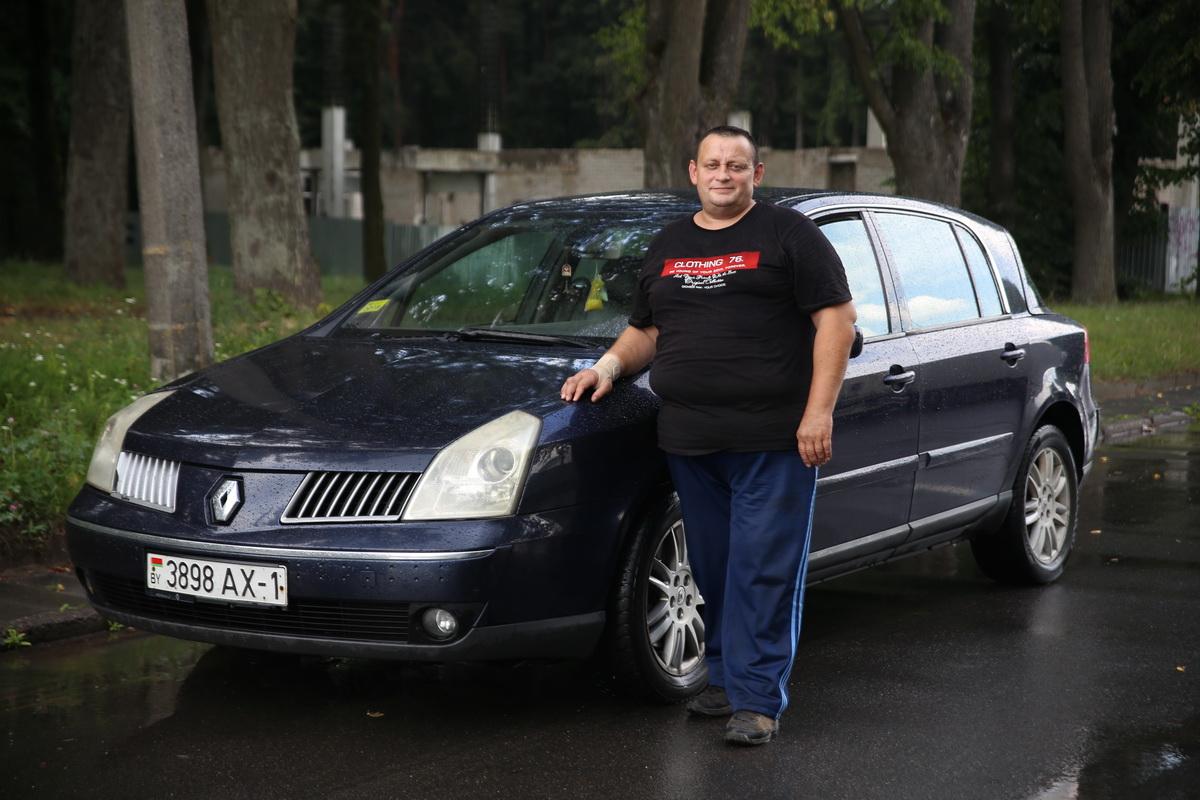Владелец автомобиля Renault Vel Satis 2002 года выпуска Владимир Мацуль. Фото: Евгений ТИХАНОВИЧ