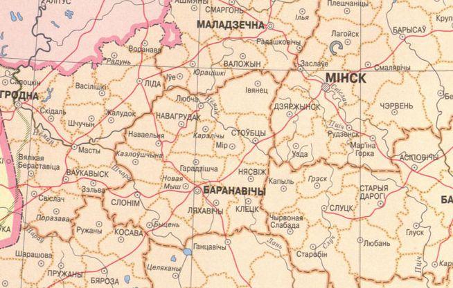 Межы Баранавіцкай вобласці