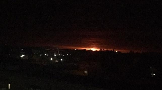 Взрывы боеприпасов. Фото: http://mvs.gov.ua