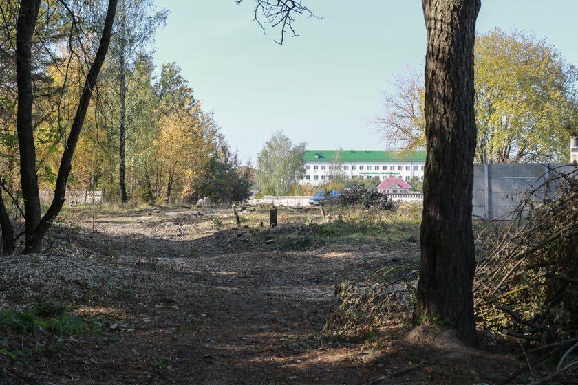 В Барановичах под новую дорогу «Южный обход» начали расчищать территорию
