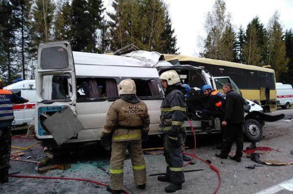 В Тверской области автобус столкнулся с маршруткой: погибли 13 человек (фото/видео)