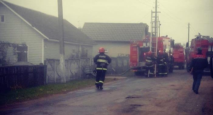 В Барановичском районе сгорел чердак с сеном