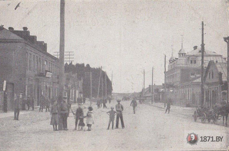 1916 год. Улица Хауптштрассе (сейчас улица Советская). Фото: сайт 1871.by