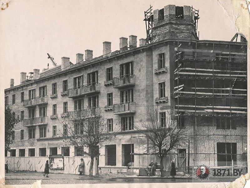 1959 год. Строительство дома №1 на площади Ленина. Фото: сайт 1871.by