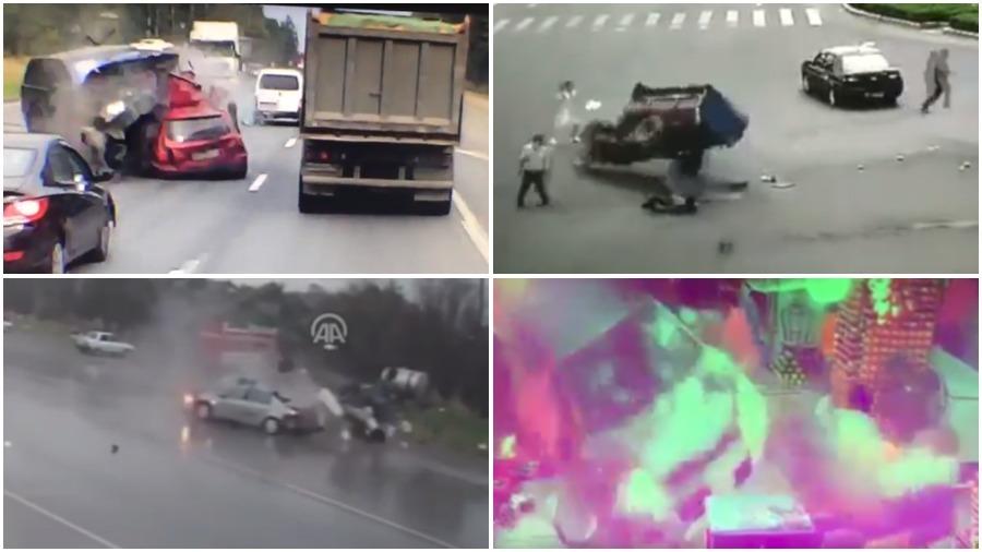 ТОП-5 ужасных аварий за неделю: столкновение на скорости 200 км/ч, безумный трицикл, смертельное лобовое (видео 18+)