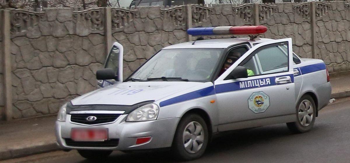 На Гомельщине пьяный водитель врезался в машину милиции и попытался скрыться