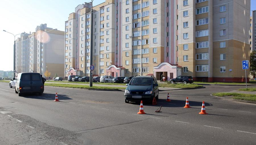 В Барановичах Opel Zafira не пропустил Volkswagen
