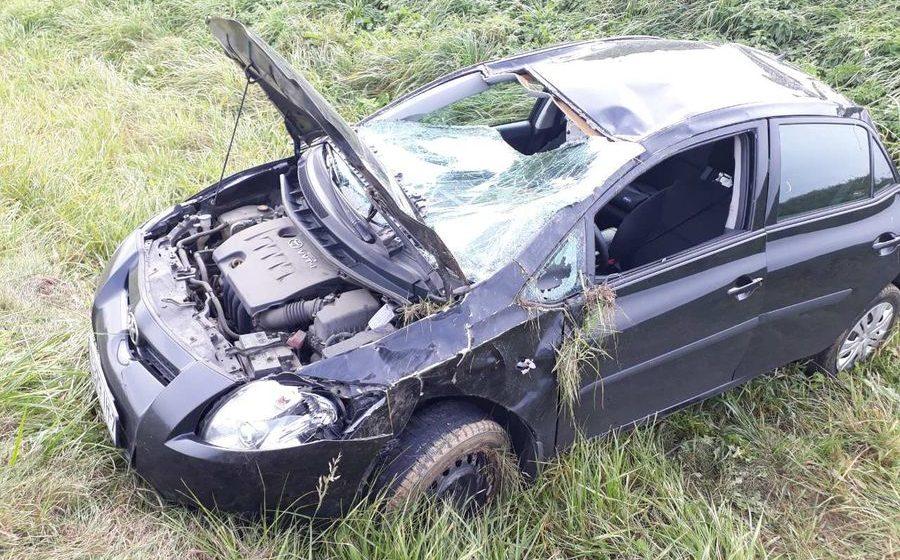 В Оршанском районе женщина-водитель не справилась с управлением и автомобиль вылетел в кювет