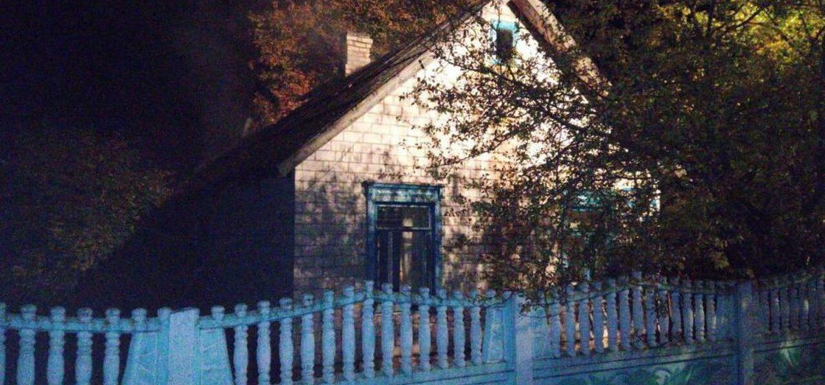 В Ляховичском районе горел жилой дом, хозяин успел выбраться из огня