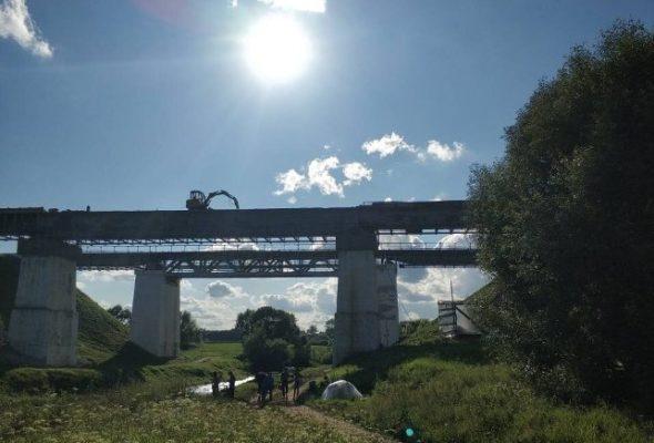 В Оршанском районе разминировали ж/д мост, взрывчатка под которым была заложена во время Великой Отечественной войны