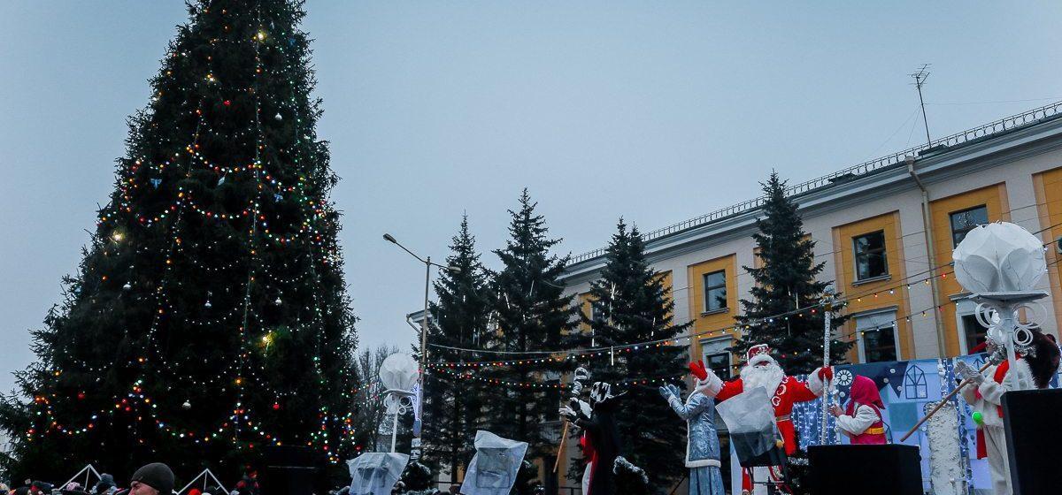Стало известно, когда в этом году в Барановичах откроют главную новогоднюю елку