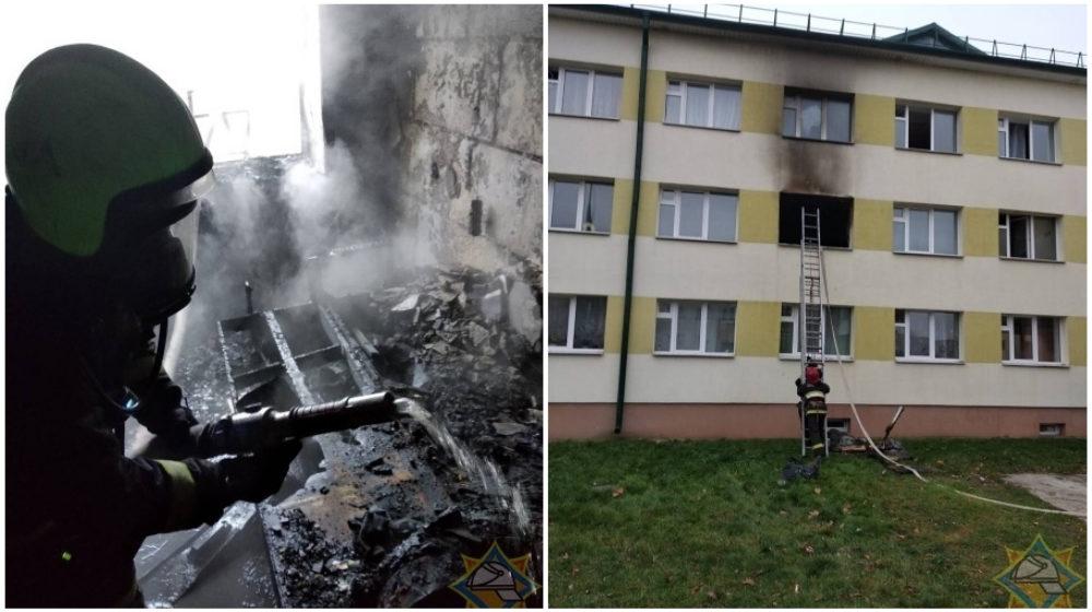 В Жабинке горело общежитие, эвакуировали 30 человек, есть пострадавшие