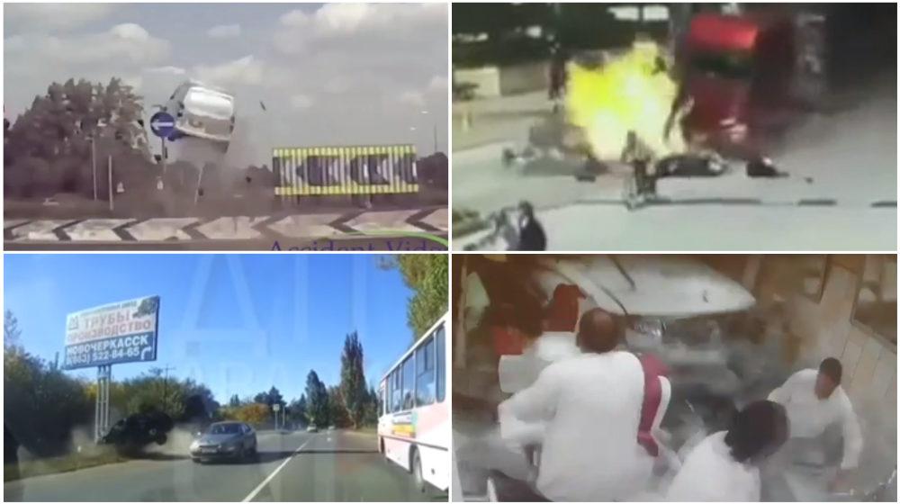 ТОП-5 ужасных аварий за неделю: неуправляемая фура, внедорожник влетел в парикмахерскую, лихач и билборд (видео 18+)