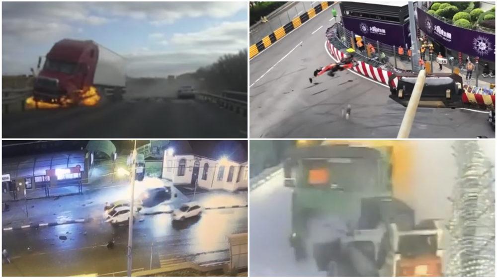 ТОП-5 ужасных аварий за неделю: эвакуатор влетел в магазин, огненное ДТП, летающий болид (видео 18+)