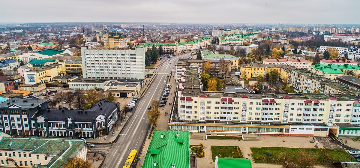 Барановичи сверху. Как выглядит площадь Ленина с высоты птичьего полета (видео)
