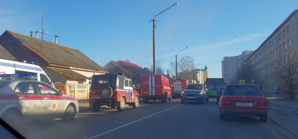 В Барановичах на улице Брестской горел дом