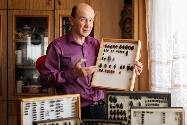 Житель Барановичей собрал коллекцию из 12 тысяч жуков и описал 18 видов, ранее не известных науке
