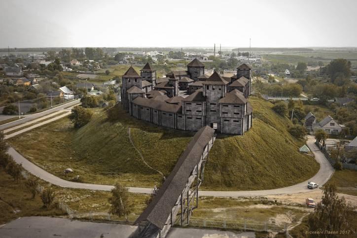 Копыльский замок, графическая реставрация Фото: Павел Кiскевiч, radzima.org