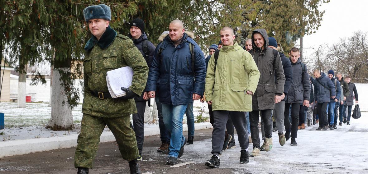 Первый день в армии. В Барановичах идет осенний призыв