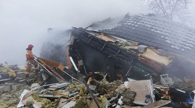 В Борисове взорвался и рухнул жилой дом