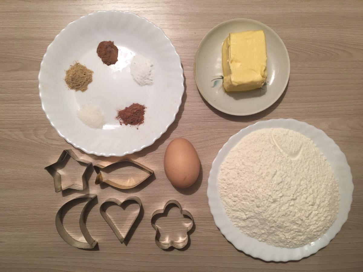 Ингредиенты для приготовления печенья.