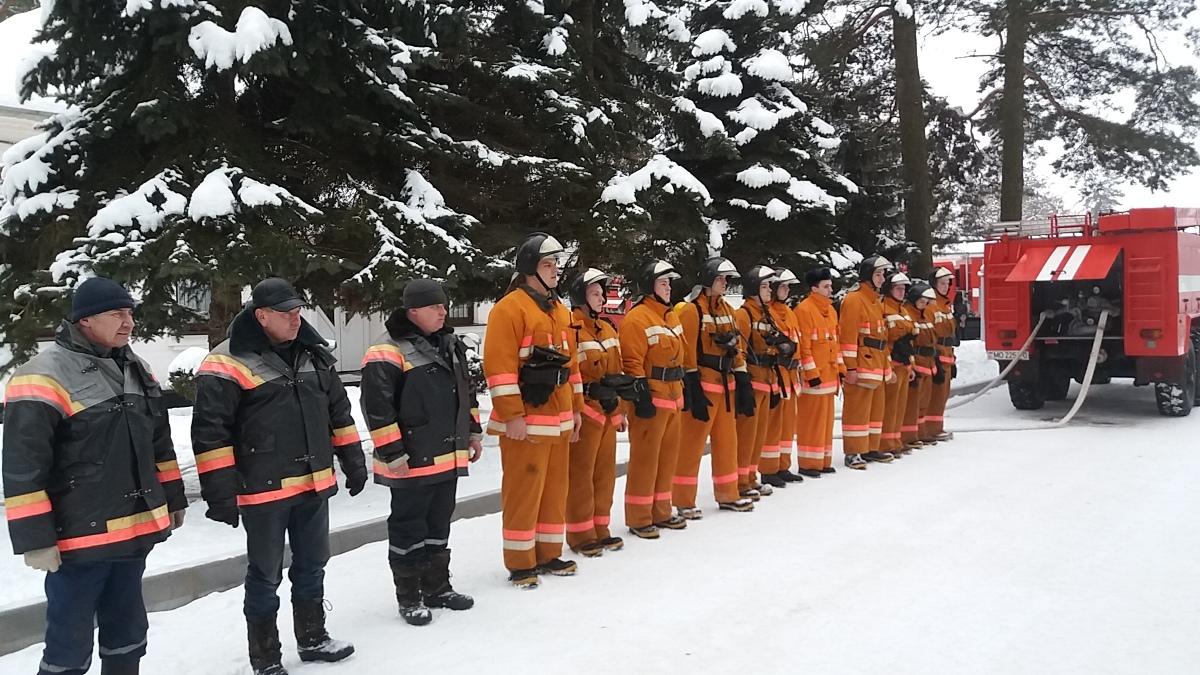 Пожарный расчет 2657 Базы горючего. Фото: архив войсковой части 55435