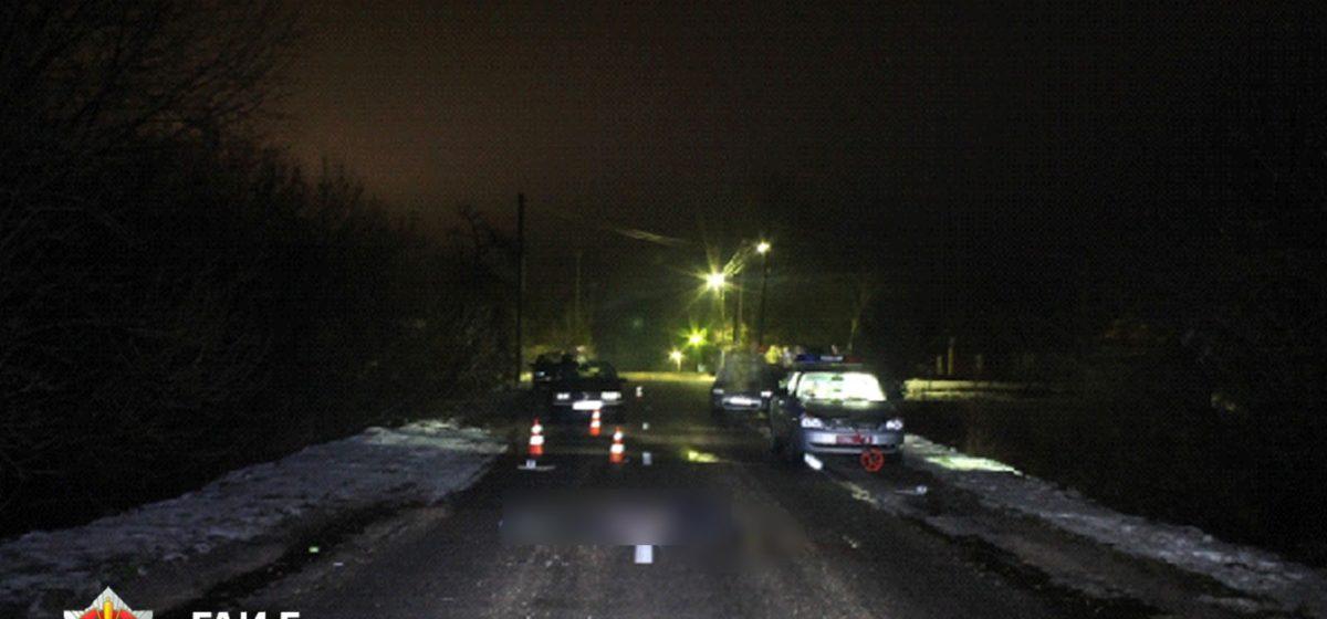 В Берестовицком районе совершен смертельный наезд на лежавшего на дороге человека